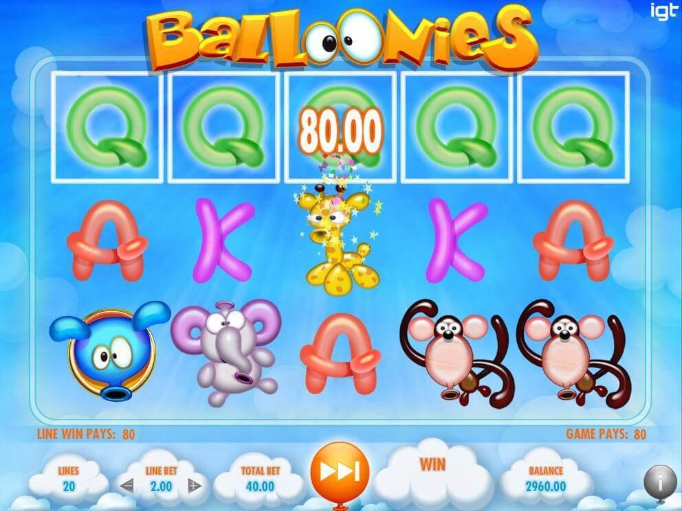 Balloonies Slot Machine